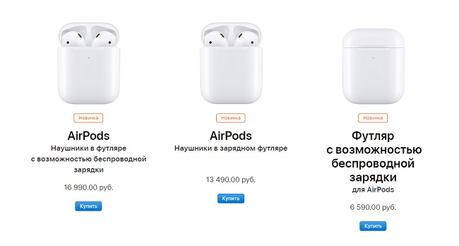 Apple AirPods 2019.