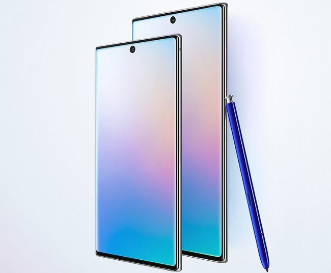 Смартфон Samsung Galaxy Note 10 и Note 10+.