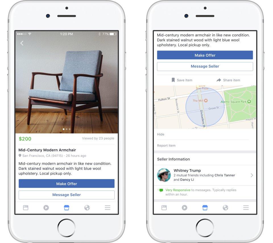 Социальная сеть Facebook запускает торговую площадку для пользователей