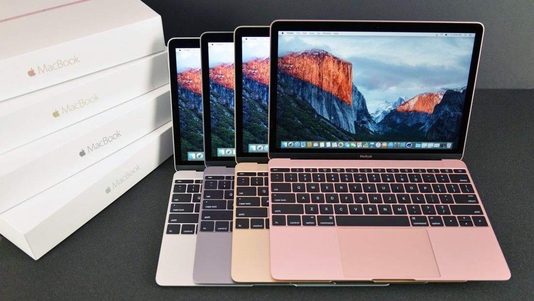 Новый компьютер MacBook.