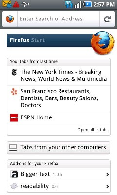 Firefox 4 для Android и Maemo.